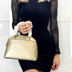 00ae8b2a53 Michael Kors Bags - MK Emmy Small Dome Satchel Crossbody Gold Bag
